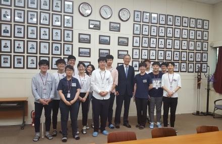 주성엔지니어링 SES 참여학생 격려방문